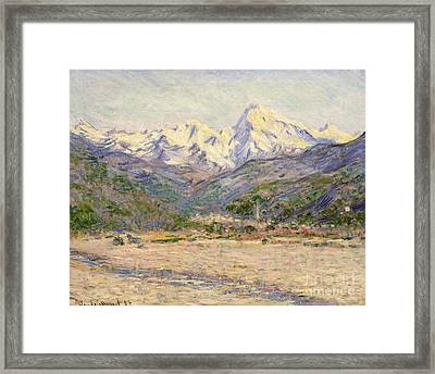The Valley Of The Nervia, 1884  Framed Print by Claude Monet