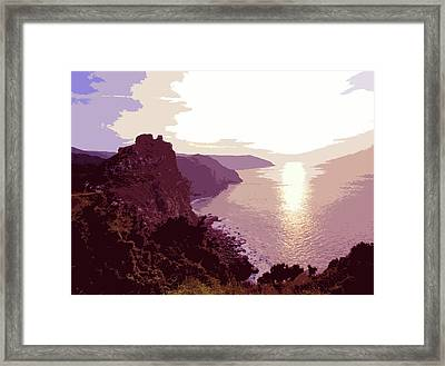 The Valley Of The Rocks - Warm Light Framed Print
