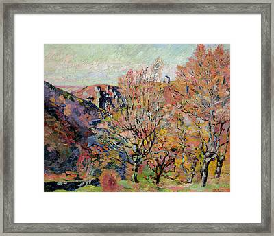The Valley Of The Sedelle In Crozant Framed Print by Jean Baptiste Armand Guillaumin
