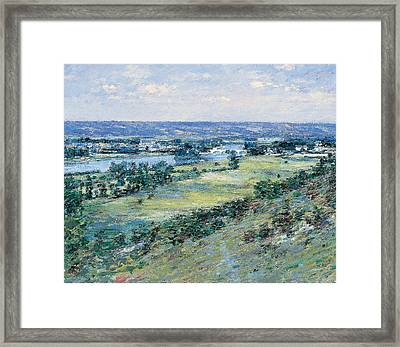 The Valley Of The Seine From The Hills Of Giverny Framed Print