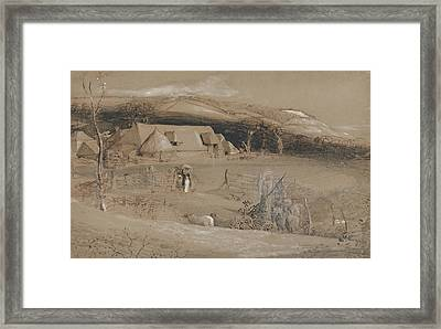 The Valley Of Vision Framed Print by Samuel Palmer