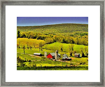 The Valley Framed Print by William Jones