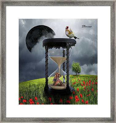 The Value Of Time Framed Print by Surreal Photomanipulation