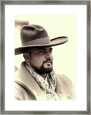 Framed Print featuring the photograph The Vaquero by Jeanne May