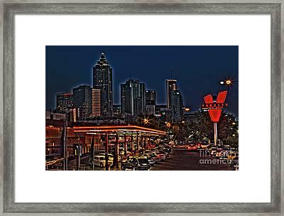 The Varsity Atlanta Framed Print by Corky Willis Atlanta Photography