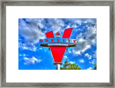 The Classic Varsity Sign Atlanta Georgia Framed Print by Reid Callaway