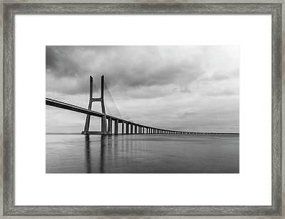 The Vasco Da Gama Bridge Lisbon Framed Print