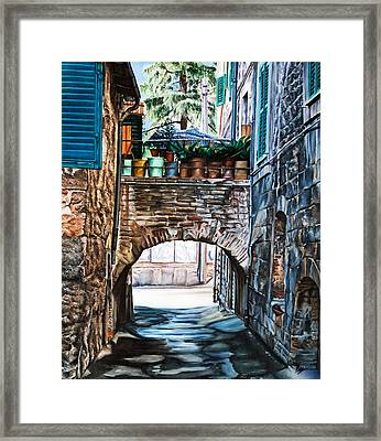 The Vase Arch Framed Print