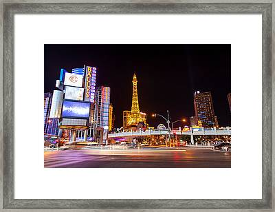 The Vegas Strip Framed Print by Matthew Harper