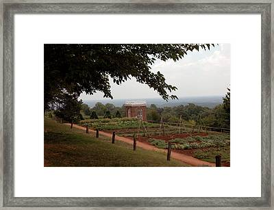 The Vegetable Garden At Monticello Framed Print
