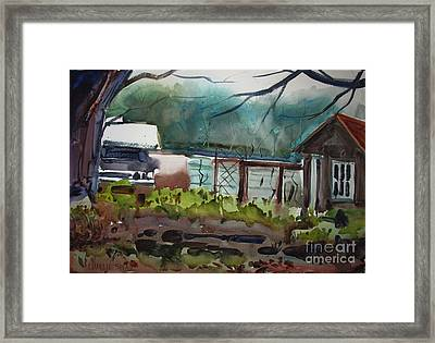The Vegetable Patch Matted Glassed Framed Framed Print by Charlie Spear
