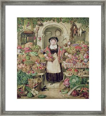 The Vegetable Stall  Framed Print by Thomas Frank Heaphy