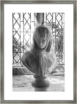 Framed Print featuring the photograph The Veiled Lady by Stewart Scott
