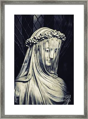 The Veiled Maiden Framed Print by Tim Gainey