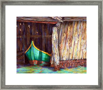 The Venetian Boathouse Framed Print by Winona Steunenberg