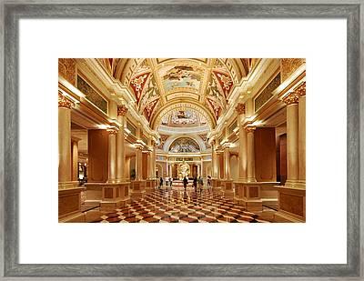 The Venetian Hotel Lobby  Las Vegas Framed Print