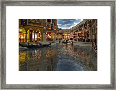 The Venetian Las Vegas Gondolas Framed Print