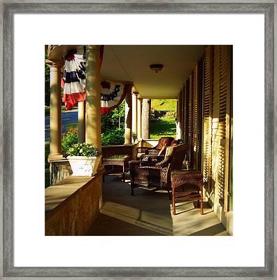 The Veranda Framed Print by Karen Cook