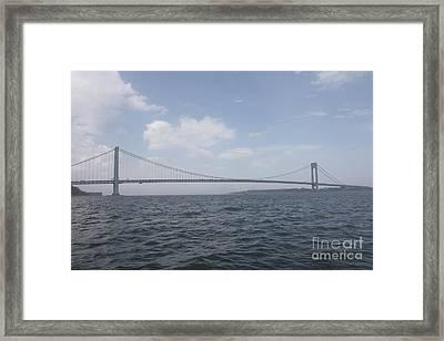The Verrazano Bridge Framed Print by John Telfer