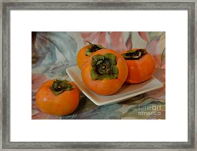 The Very Edible Fuyu Persimmon Framed Print by Mary Deal
