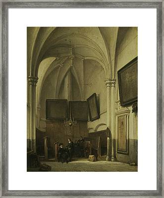 The Vestry Of St. Stevens Church In Nijmegen Framed Print by Johannes Bosboom