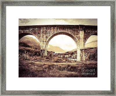 The Viaduct And The Loch Framed Print by Denise Railey