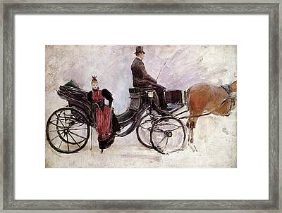 The Victoria Framed Print by Jean Beraud