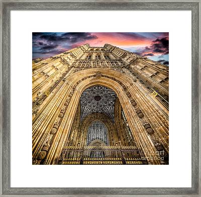 The Victoria Tower Framed Print