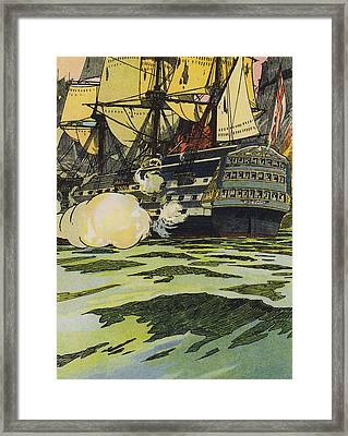 The Victory At Trafalgar  Framed Print by English School