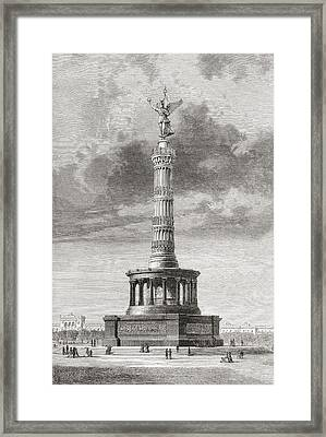 The Victory Column In The Tiergarten Framed Print