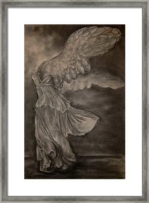 The Victory Of Samothrace Framed Print by Julianna Ziegler