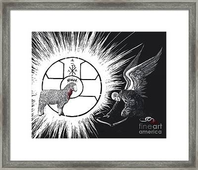 The Victory Of The Lamb Framed Print by Travis Ricks