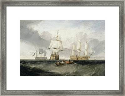 The Victory Returning From Trafalgar Framed Print