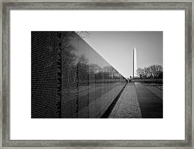 The Vietnam Veterans Memorial Washington Dc Framed Print