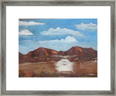 The View Framed Print by Allison Prior