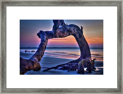 The View Driftwood Beach Jekyll Island Sunrise Art Framed Print