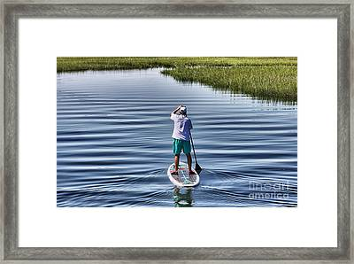 The View From A Bridge Framed Print
