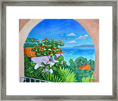 The View From A Window Framed Print
