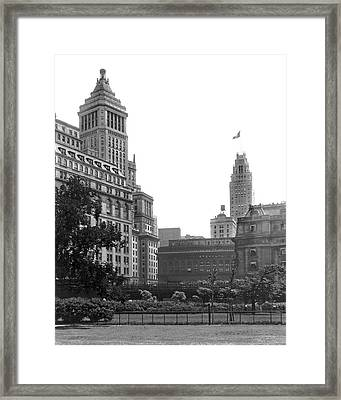 The View From Battery Park Framed Print by Underwood Archives