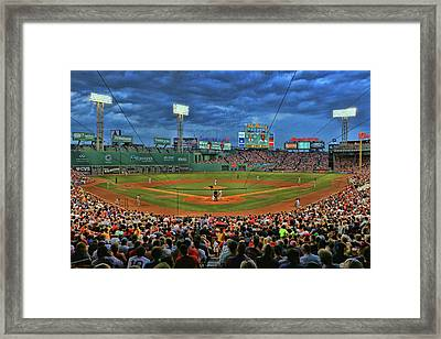 The View From Behind Home Plate - Fenway Park Framed Print