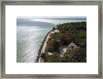 The View From Bigg Baggs Lighthouse On Key Biscayne Florida Framed Print by Toby McGuire