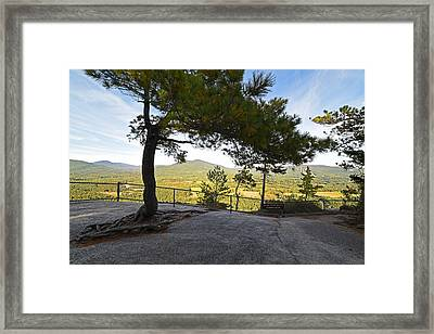 The View From Cathedral Ledge North Conway Nh Framed Print by Toby McGuire