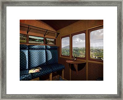 The View From Marion Station Framed Print by Cynthia Decker
