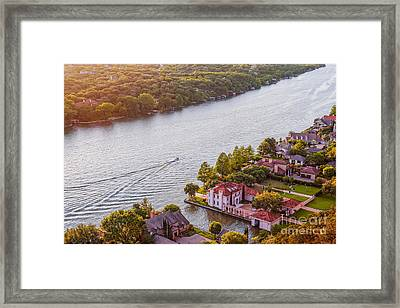 The View From Mt. Bonnell At Sunset - Austin Texas Hill Country Framed Print by Silvio Ligutti