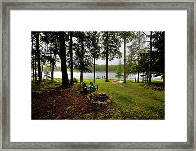 Framed Print featuring the photograph The View From Northern Comfort by David Patterson