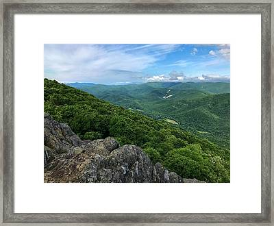Framed Print featuring the photograph The View From Raven's Roost by Lori Coleman