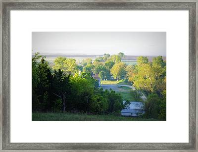 The View From The Hill Framed Print