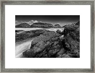 The View From The Rocks Framed Print by Masako Metz