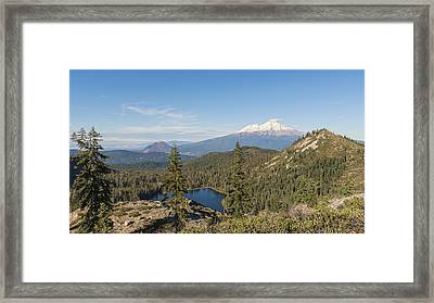 The View From The Top Framed Print by Loree Johnson