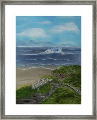 The View II Framed Print by Robin Lee